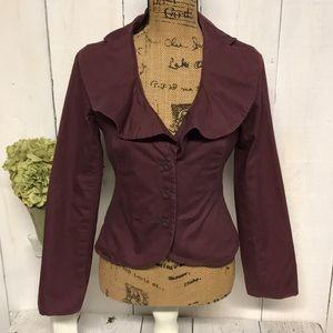 Anthropologie Odille Purple Jacket Womens Size 4